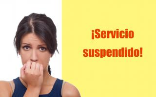 portada de Redirección a página de servicio suspendido